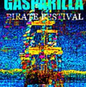 Here Comes Gasparilla Art Print
