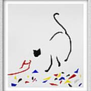 Here Kitty Kitty Art Print by Eve Riser Roberts