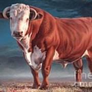 Hereford Bull Art Print