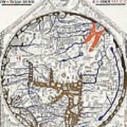 Hereford Mappa Mundi With Detail Upszed  Art Print