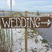 Here's The Wedding Art Print