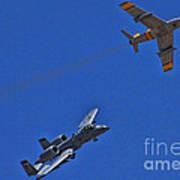 Heritage Flight A-10 F-86 Art Print