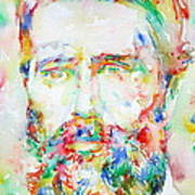 Herman Melville Watercolor Portrait.1 Art Print