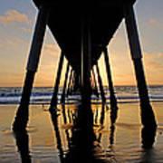 Hermosa Pier At Sunset Art Print