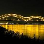 Hernando De Soto Bridge 002 Art Print by Lance Vaughn