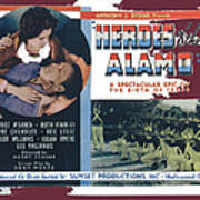Heroes Of The Alamo Lobby Card 1936 Julian Rivero Collage Color Added 2012 Art Print