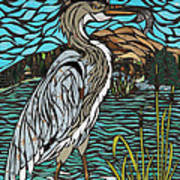 Heron On Connor Creek Art Print