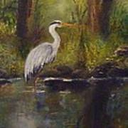 Herons Rest Art Print