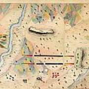Herreras Map Of A Mexican War Campaign 1848 Art Print