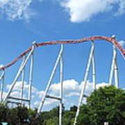 Hershey Park - Storm Runner Roller Coaster - 12126 Art Print by DC Photographer