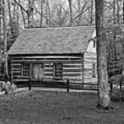 Hesler Log Home 10234b Art Print
