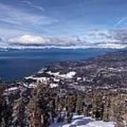 Hevenly Ski Resort In South Lake Tahoe Art Print