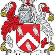 Hewlett Coat Of Arms Irish Art Print