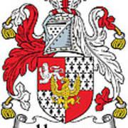 Hewson Coat Of Arms Irish Art Print