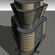 Triagonal Building 3 Art Print
