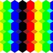 Hexes Fill In Colors Art Print