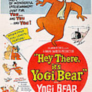 Hey There, Its Yogi Bear, Top Right Art Print