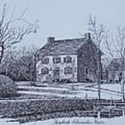 Hezekiah Alexander House Etching Art Print