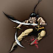Hhu'manni Warrior Art Print