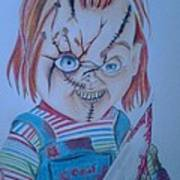 Hi I'am Chucky  Wanna Play Art Print