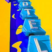 Hi-lander Motel Art Print by Gail Lawnicki