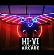 Hi-vi Arcade Art Print