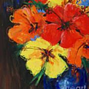 Hibiscus Colours Art Print