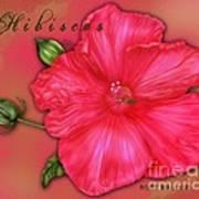 Hibiscus Digi Art Print