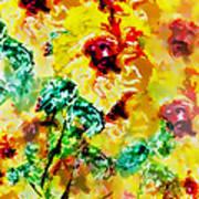 Hibiscus Impressionist Art Print