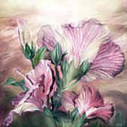 Hibiscus Sky - Pastel Pink Tones Art Print