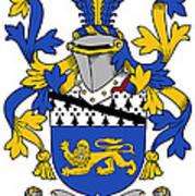 Hickey Coat Of Arms Irish Art Print