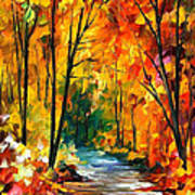 Hidden Emotions - Palette Knife Oil Painting On Canvas By Leonid Afremov Art Print