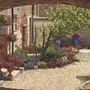 Hidden Garden Villa Di Camigliano Tuscany Art Print