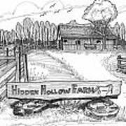 Hidden Hollow Farm 1 Art Print