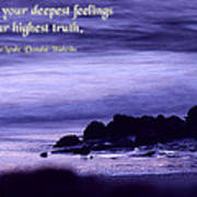Hidden In Your Deepest Feelings Art Print