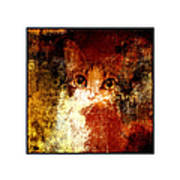 Hidden Square White Frame Art Print