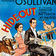 Hide-out, From Left Maureen Osullivan Art Print