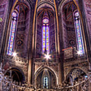 High Altar And Stained Glass Windows  Art Print