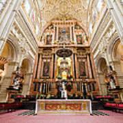 High Altar Of Cordoba Cathedral Art Print
