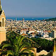 High Angle View Of A City, Barcelona Art Print