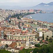 High Angle View Of A City, Naples Art Print