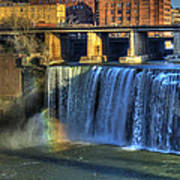 High Falls Rainbow Art Print