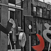 High Line Joy Black And White Art Print