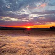 High Plains Sunrise Art Print by Ric Soulen