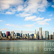 High Resolution Large Photo Of Chicago Skyline Art Print