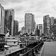 high rise apartment condo blocks in the west end coal harbour marina Vancouver BC Canada Art Print