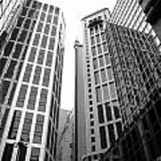 High Rise Building In The Financial Center Of Hong Kong Art Print