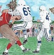 High School Football Art Print