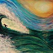 High Surf Art Print