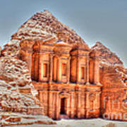 High Temple At Petra Art Print